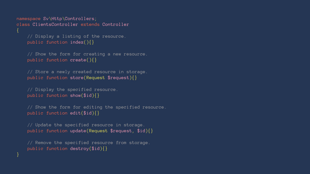 namespace Sv\Http\Controllers; class ClientsCon...