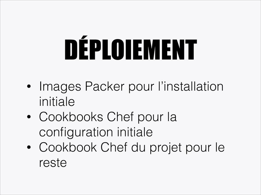 DÉPLOIEMENT • Images Packer pour l'installation...