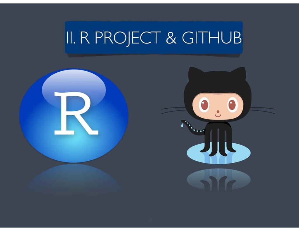12 II. R PROJECT & GITHUB