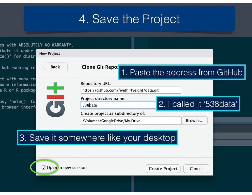 4. Save the Project 1. Paste the address from G...