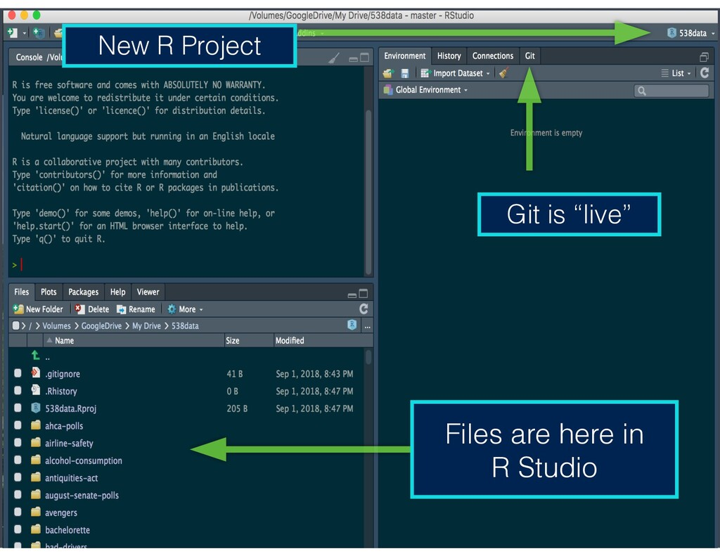 """New R Project Git is """"live"""" Files are here in R..."""