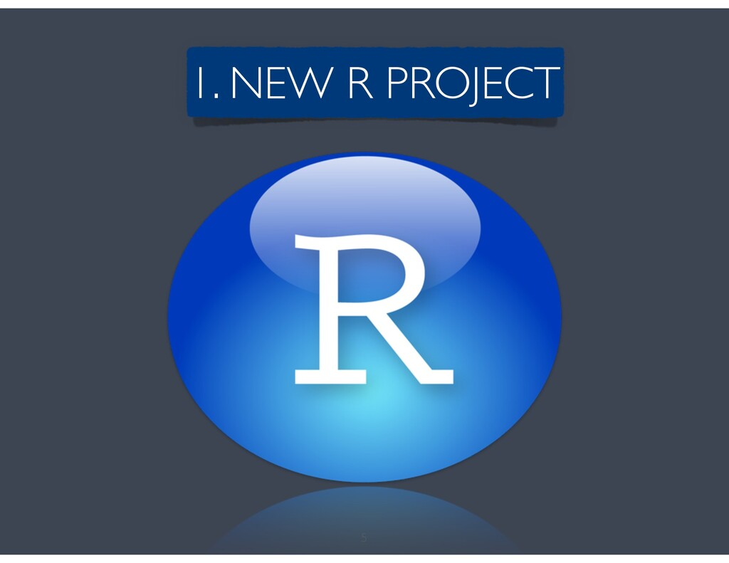 5 1. NEW R PROJECT