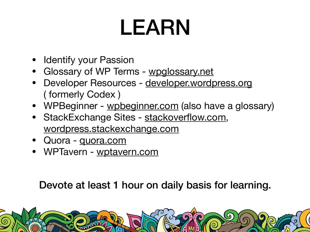 LEARN • Identify your Passion  • Glossary of WP...