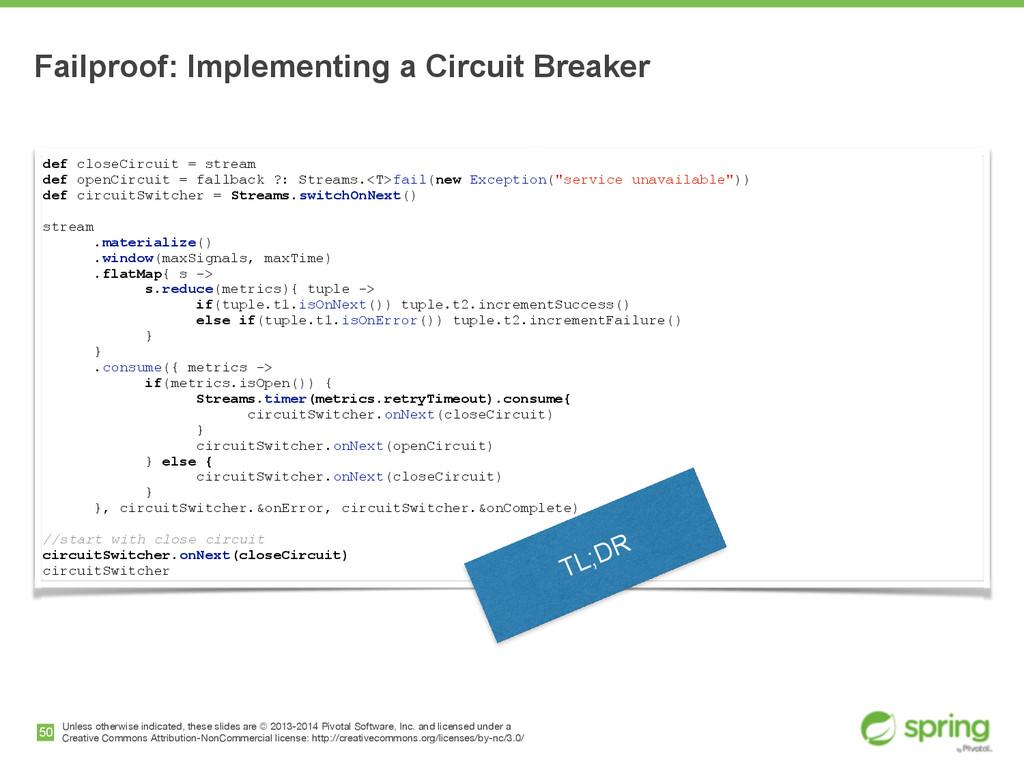 def closeCircuit = stream def openCircuit = fal...