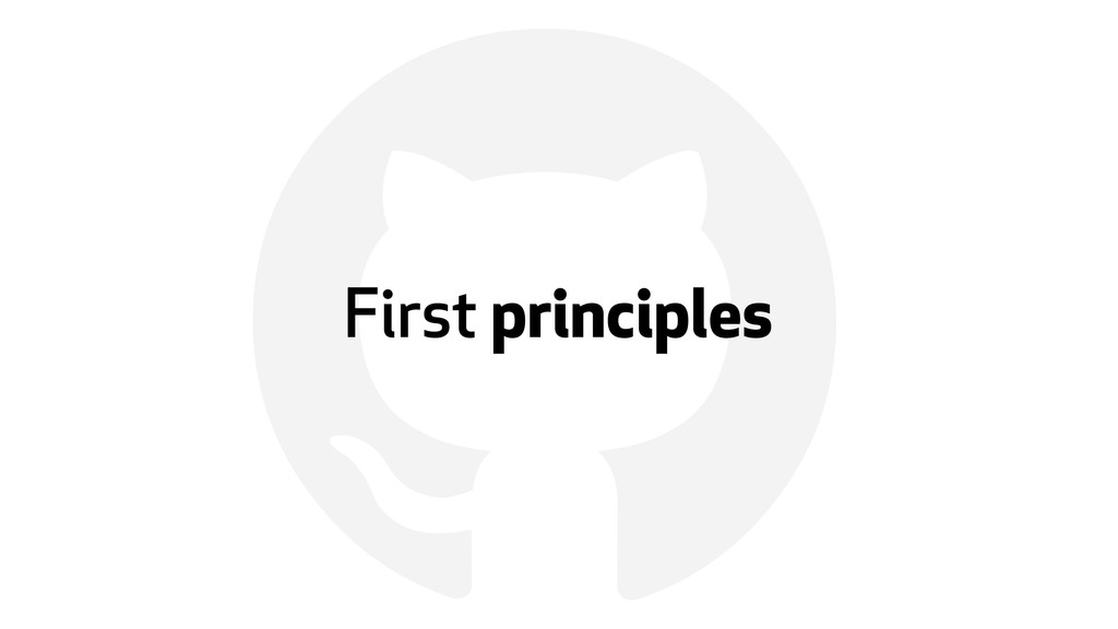 ! First principles