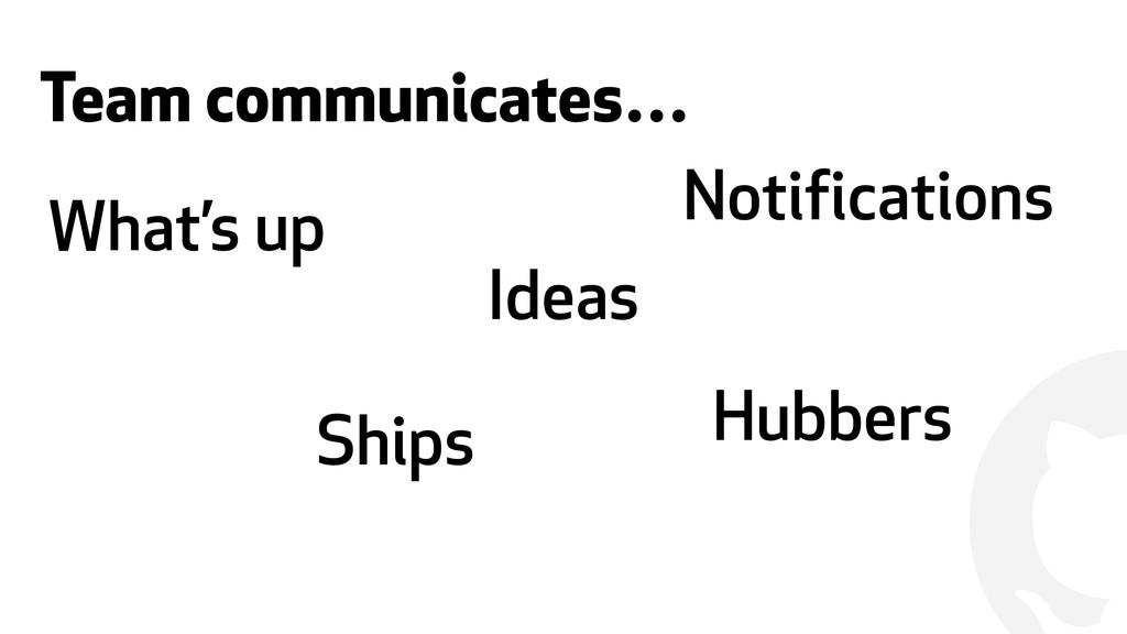 ! Team communicates… What's up Ships Ideas Hubb...