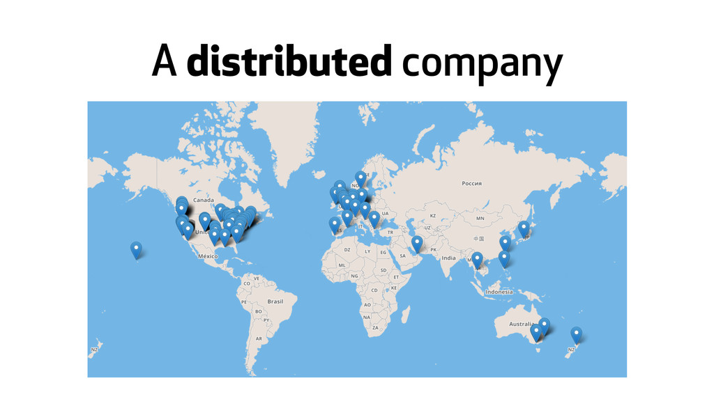 A distributed company
