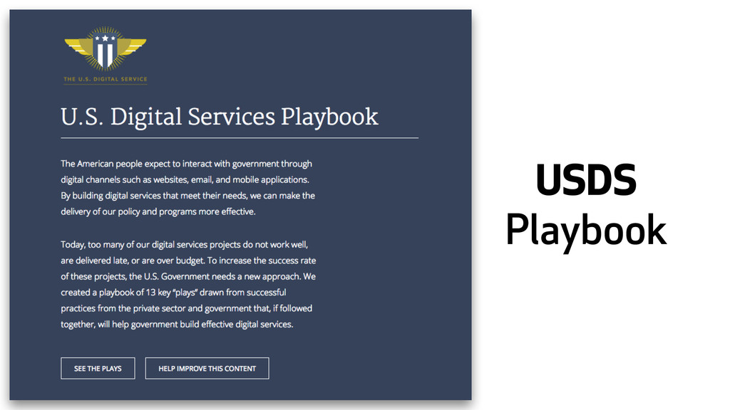 USDS Playbook