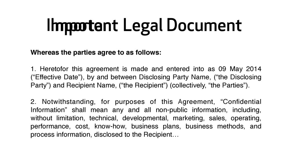 Impotent Legal Document Whereas the parties agr...