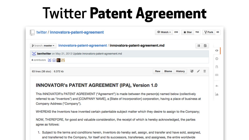 Twitter Patent Agreement