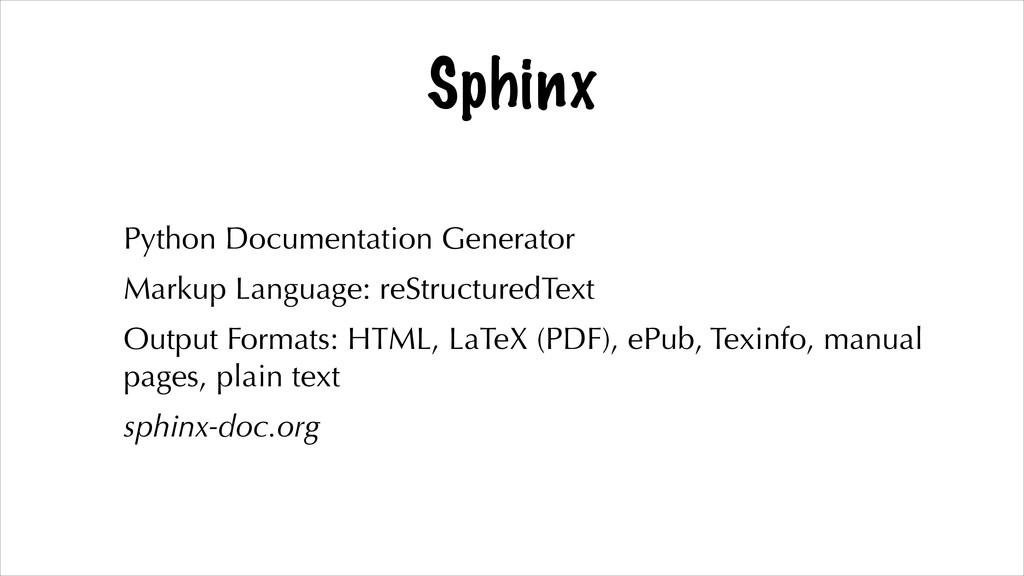 Sphinx Python Documentation Generator Markup La...