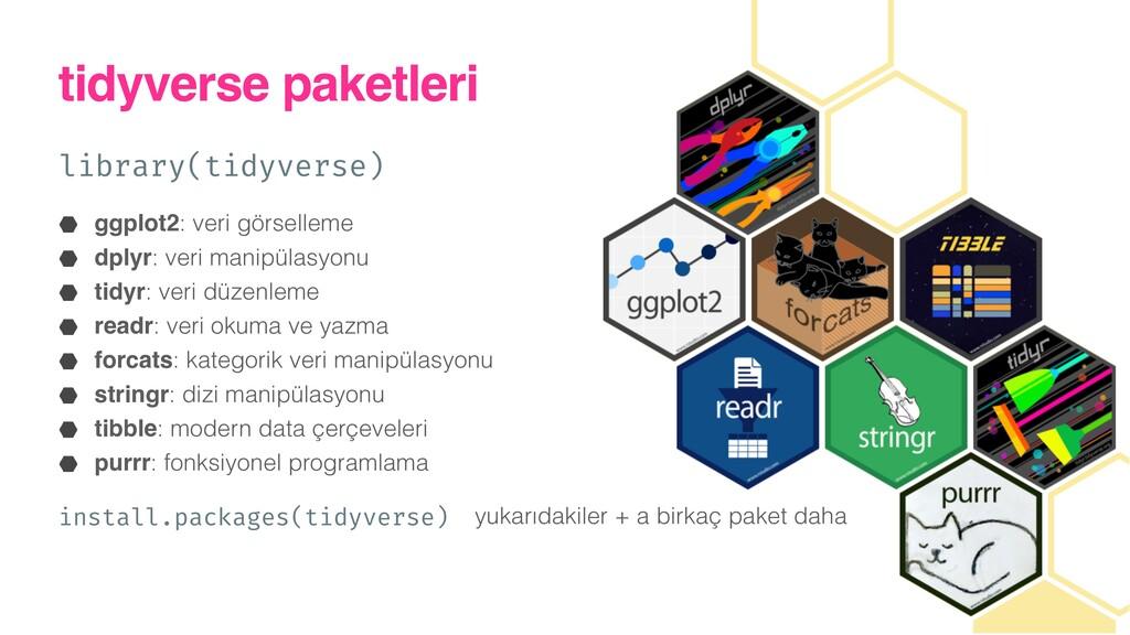 tidyverse paketleri library(tidyverse)) ggplot2...