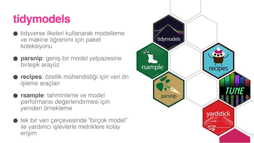 tidymodels tidyverse ilkeleri kullanarak modell...