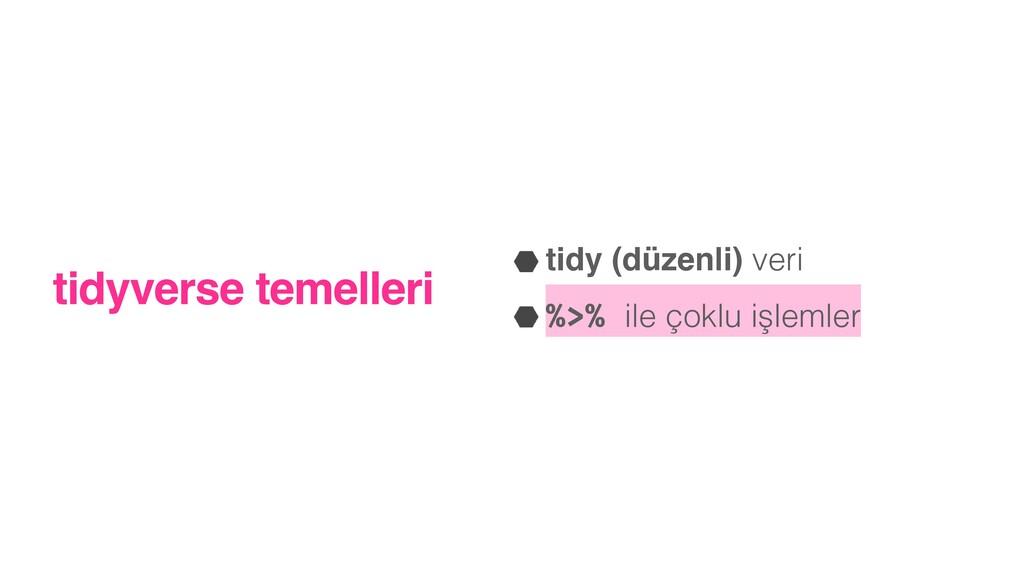 tidyverse temelleri tidy (düzenli) veri   %>% i...