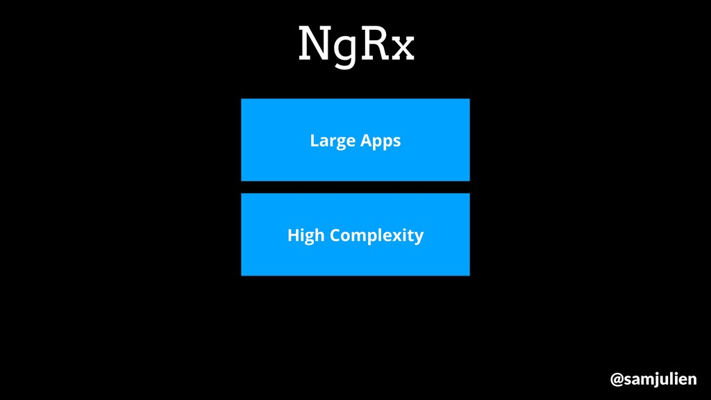 NgRx Large Apps High Complexity @samjulien