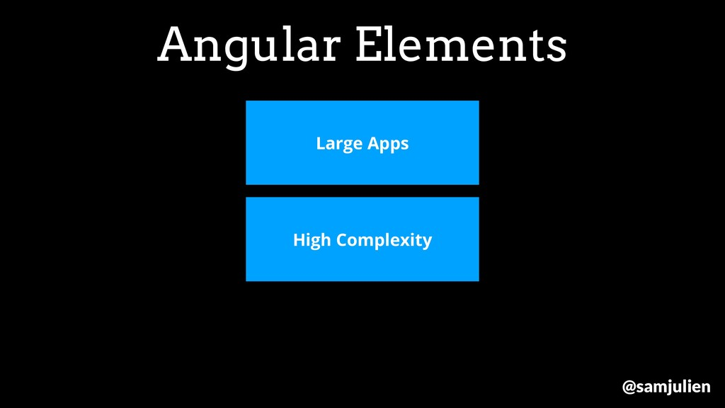 Angular Elements Large Apps High Complexity @sa...