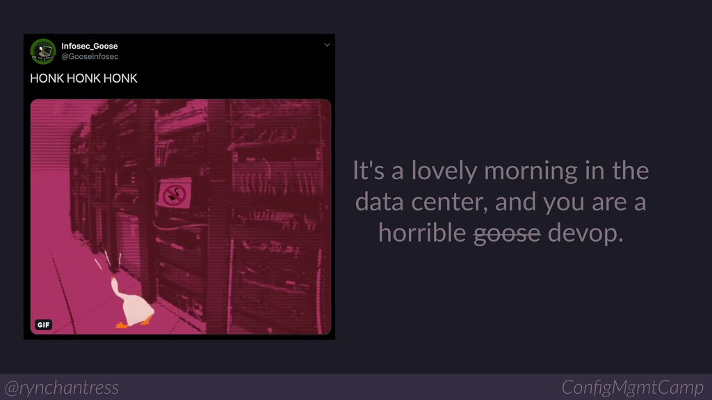 It's a lovely morning in the data center, and y...