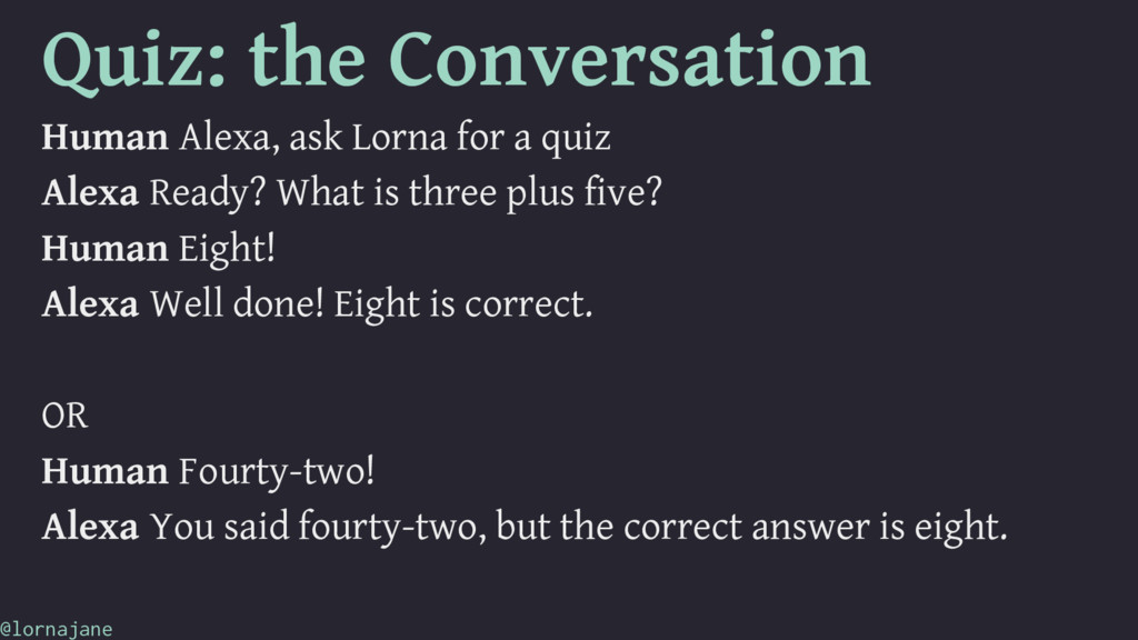 Quiz: the Conversation Human Alexa, ask Lorna f...