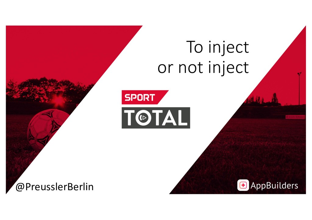 To inject or not inject @PreusslerBerlin