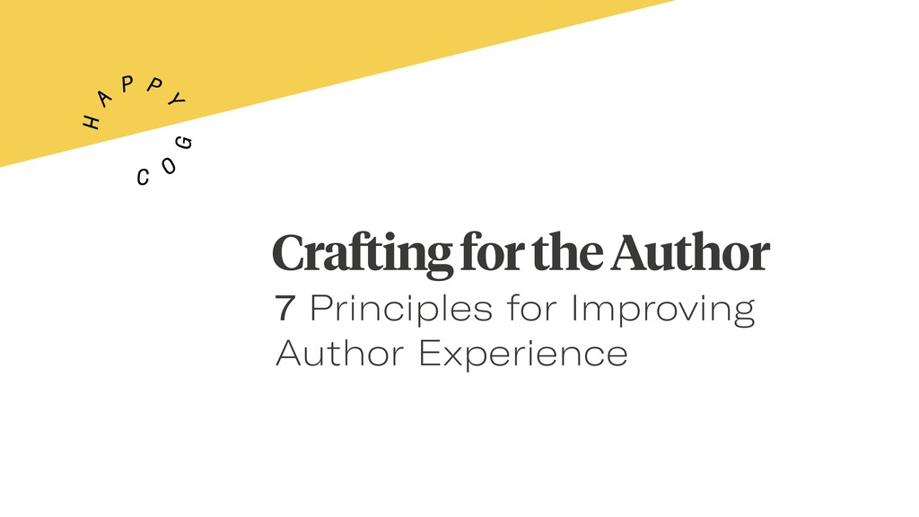 Crafting for the Author 7 Principles for Improv...
