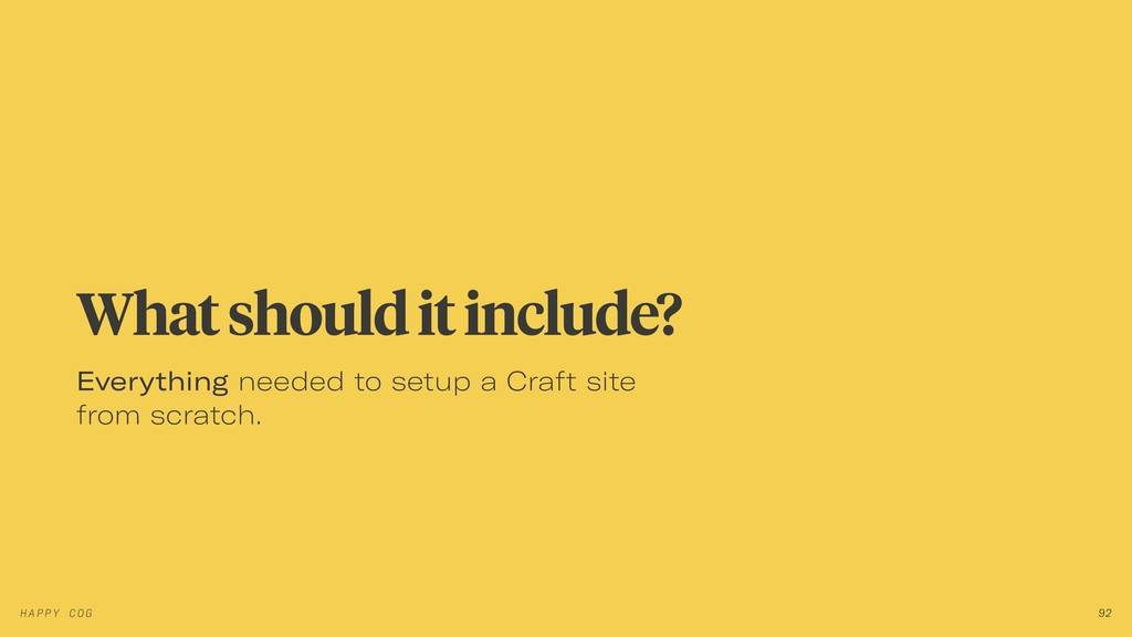 Everything needed to setup a Craft site from sc...