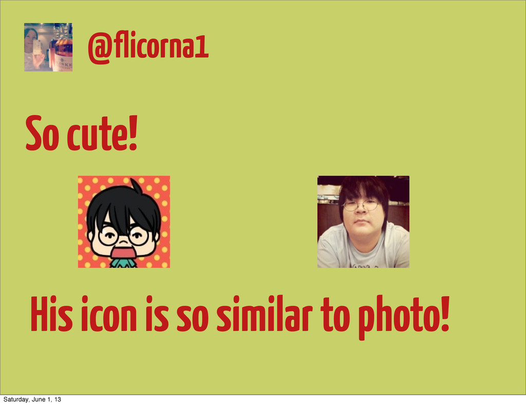 So cute! His icon is so similar to photo! @flic...