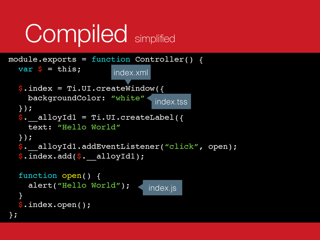 Compiled simplified module.exports = function Co...
