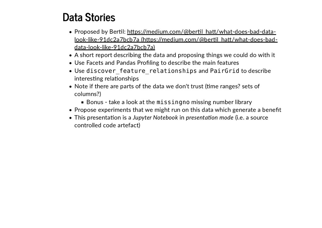 Data Stories Data Stories Proposed by Ber�l: A ...