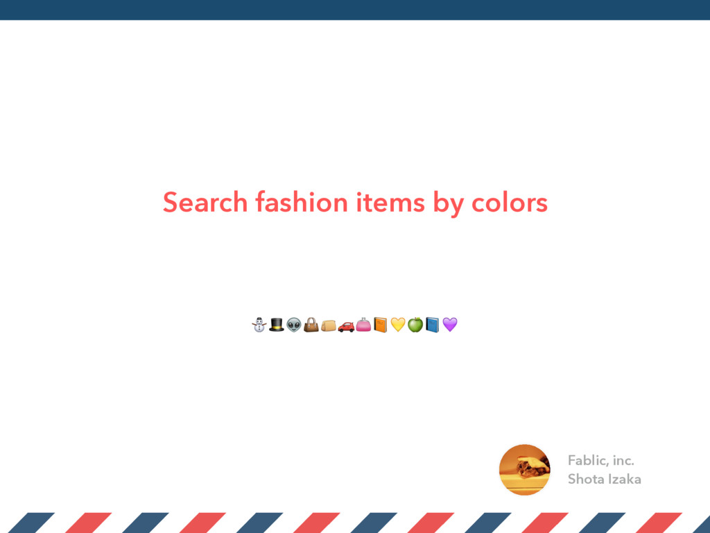 Search fashion items by colors Fablic, inc. Sho...