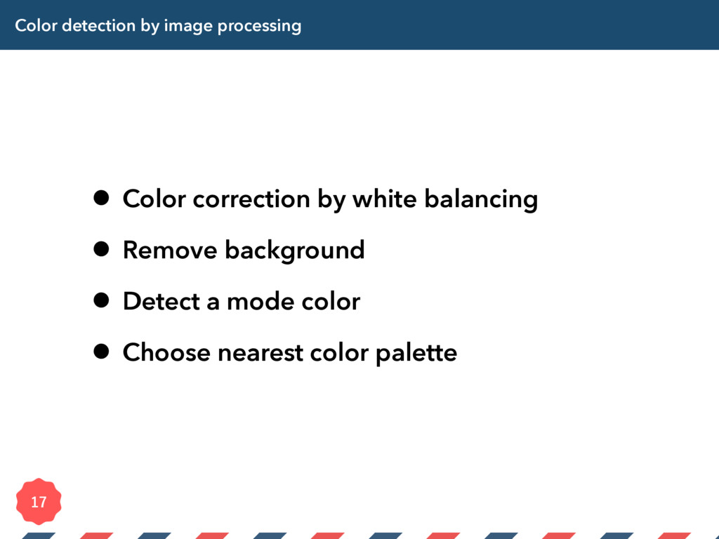 Color detection by image processing • Color cor...