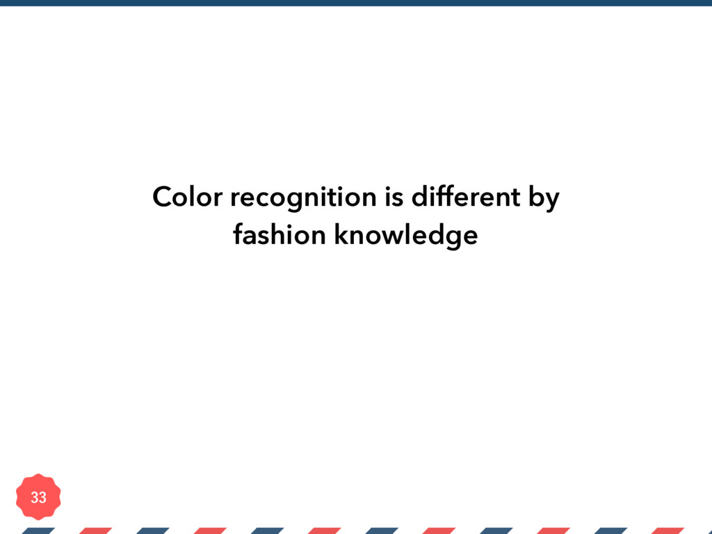 Color recognition is different by fashion knowl...