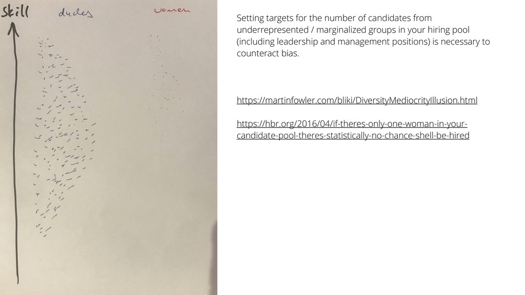 Setting targets for the number of candidates fr...