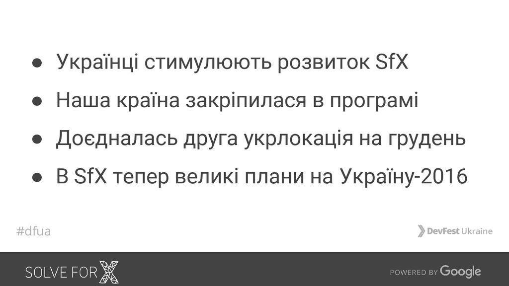 ● Українці стимулюють розвиток SfX ● Наша країн...
