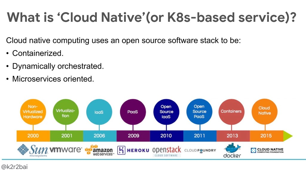 @k2r2bai What is 'Cloud Native'(or K8s-based se...