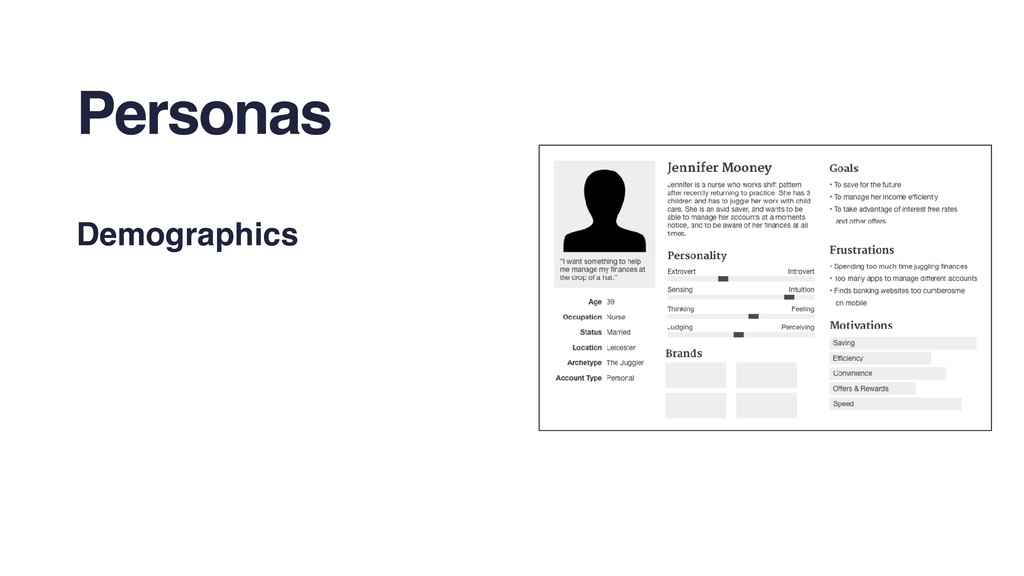 Personas Demographics