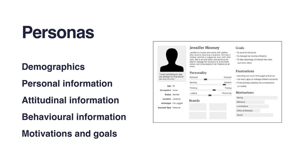 Personas Demographics Personal information Atti...