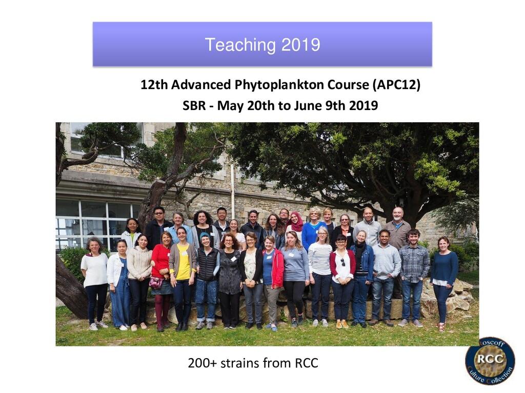 12th Advanced Phytoplankton Course (APC12) SBR ...