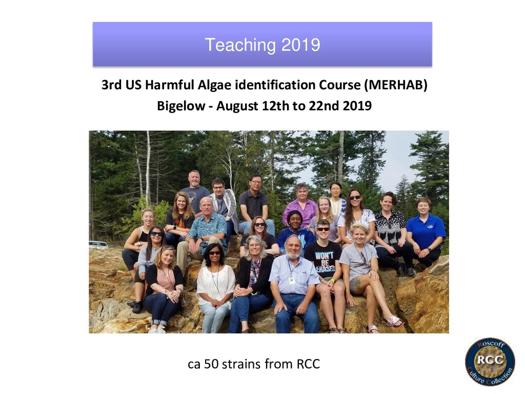 3rd US Harmful Algae identification Course (MER...