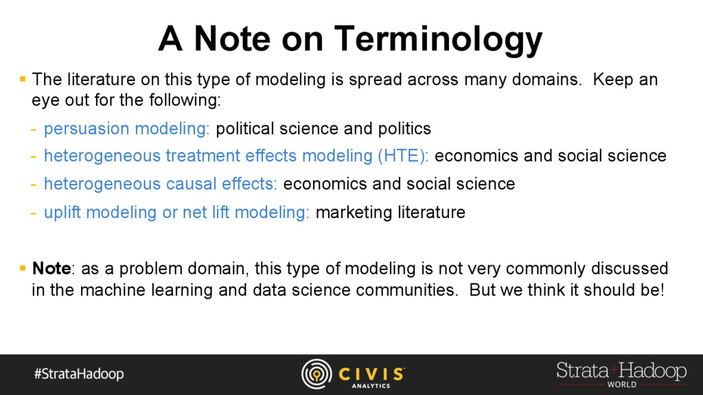 A Note on Terminology §  The literature on this...