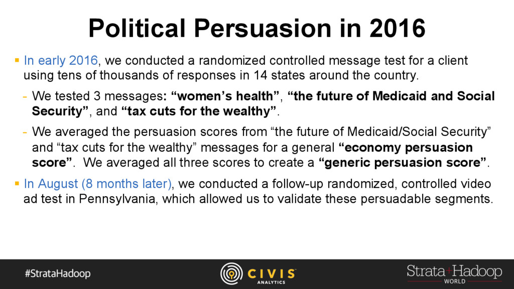 Political Persuasion in 2016 §  In early 2016, ...