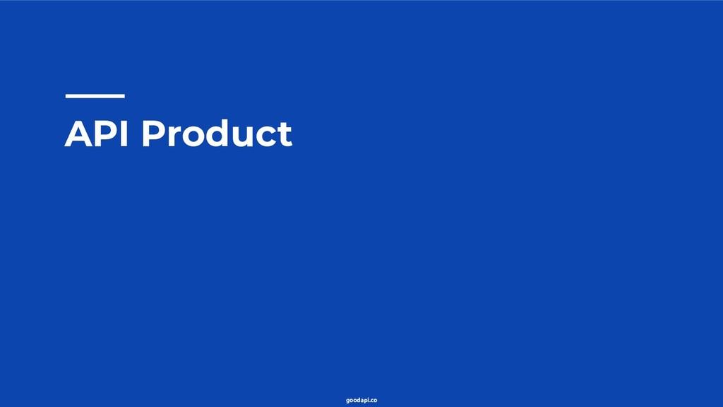 goodapi.co API Product