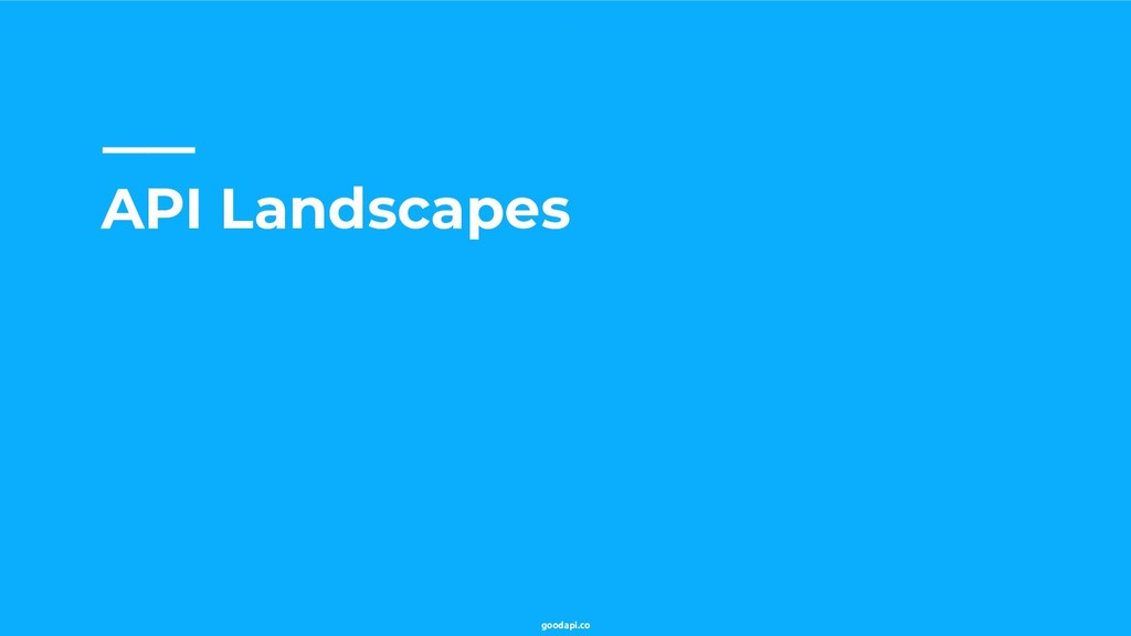 goodapi.co API Landscapes