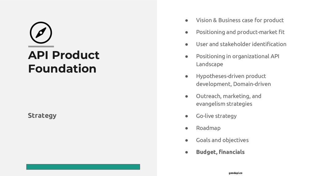 goodapi.co API Product Foundation ● Vision & Bu...