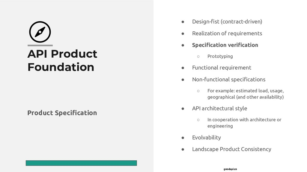 goodapi.co API Product Foundation ● Design-fist ...