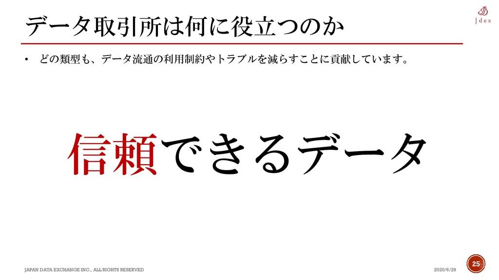 25 データ取引所は何に役立つのか 2020/6/29 JAPAN DATA EXCHANGE...