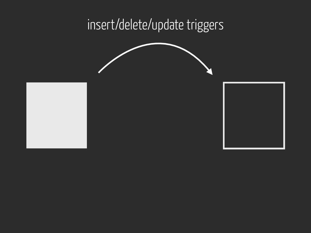 insert/delete/update triggers
