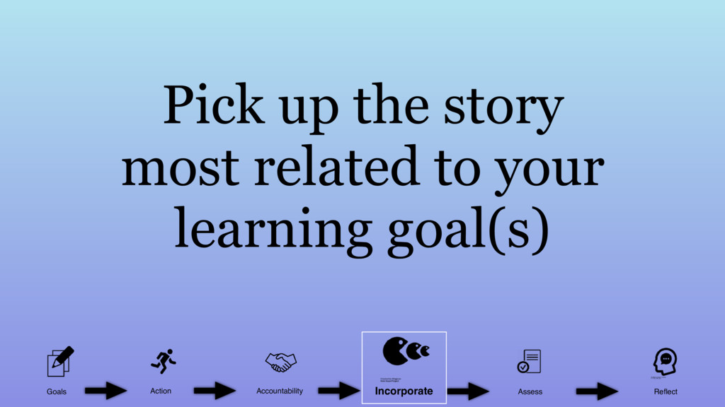 Pick up the story most related to your learning...