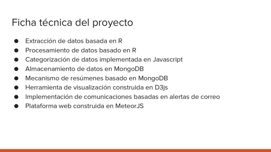 Ficha técnica del proyecto ● Extracción de dato...