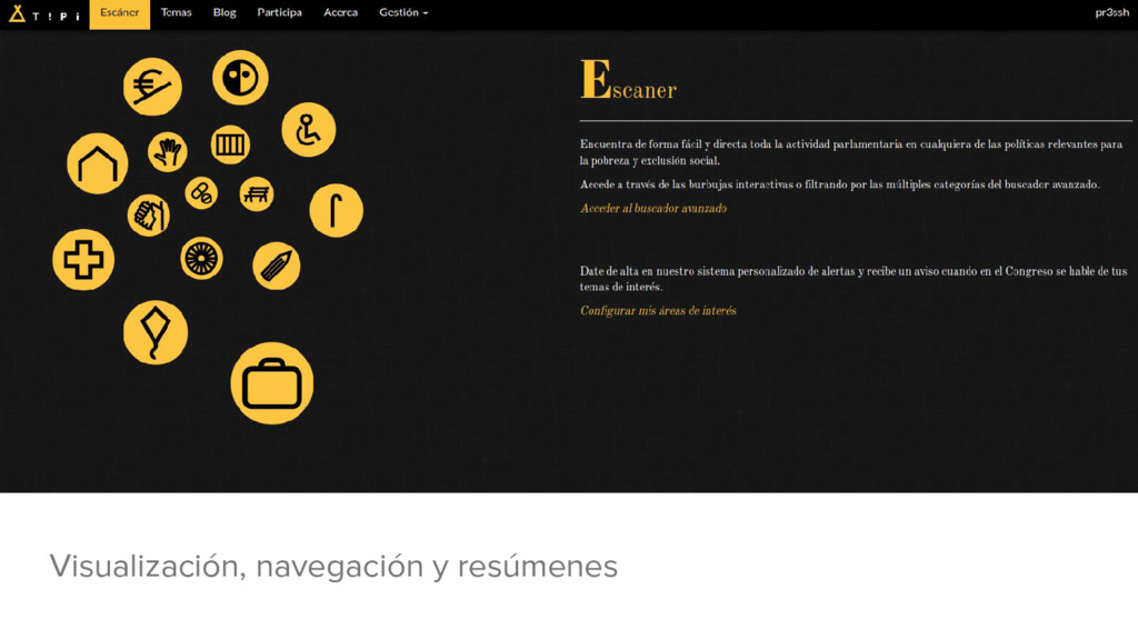 Visualización, navegación y resúmenes