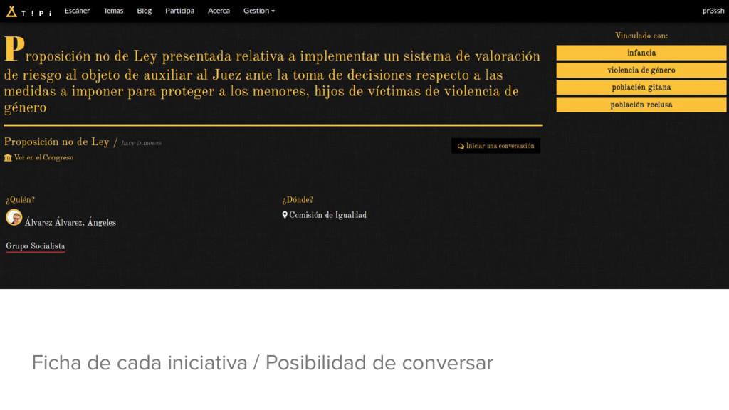 Ficha de cada iniciativa / Posibilidad de conve...